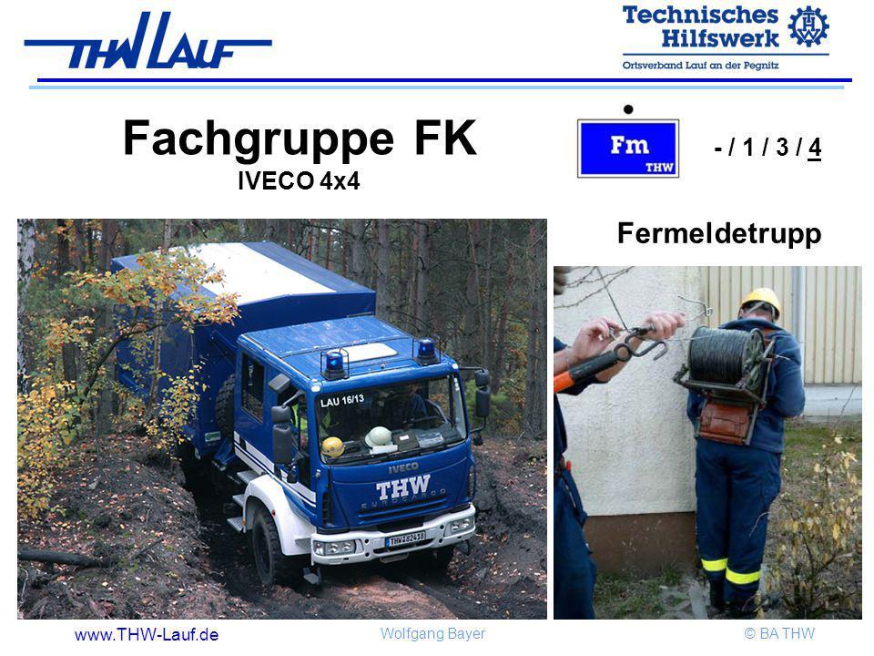 Fachgruppe FK IVECO 4x4 - / 1 / 3 / 4 Fermeldetrupp