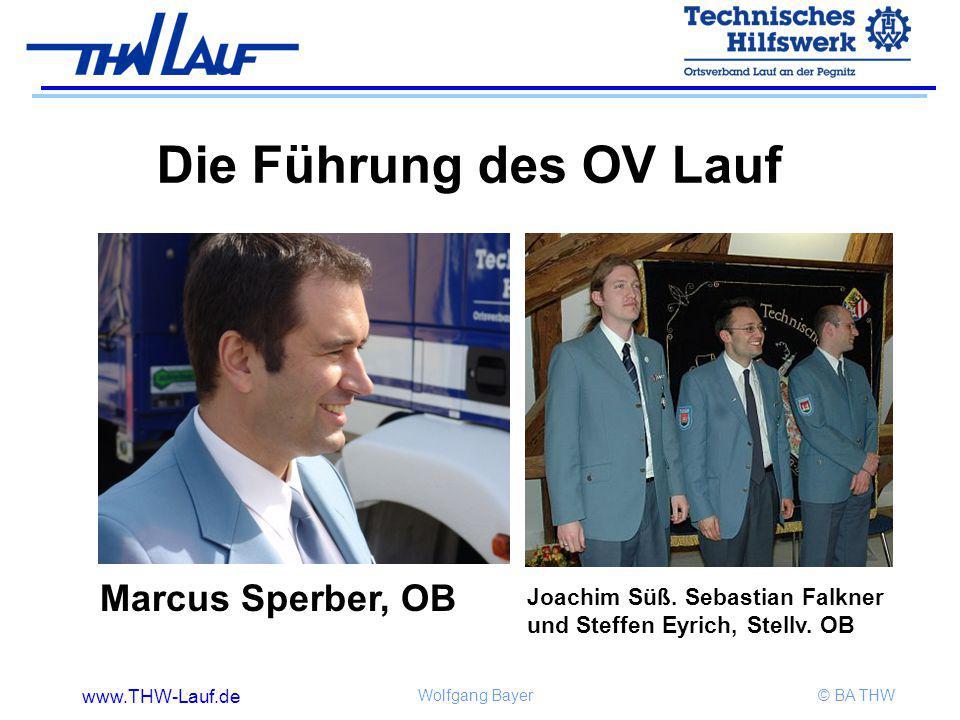 Die Führung des OV Lauf Marcus Sperber, OB