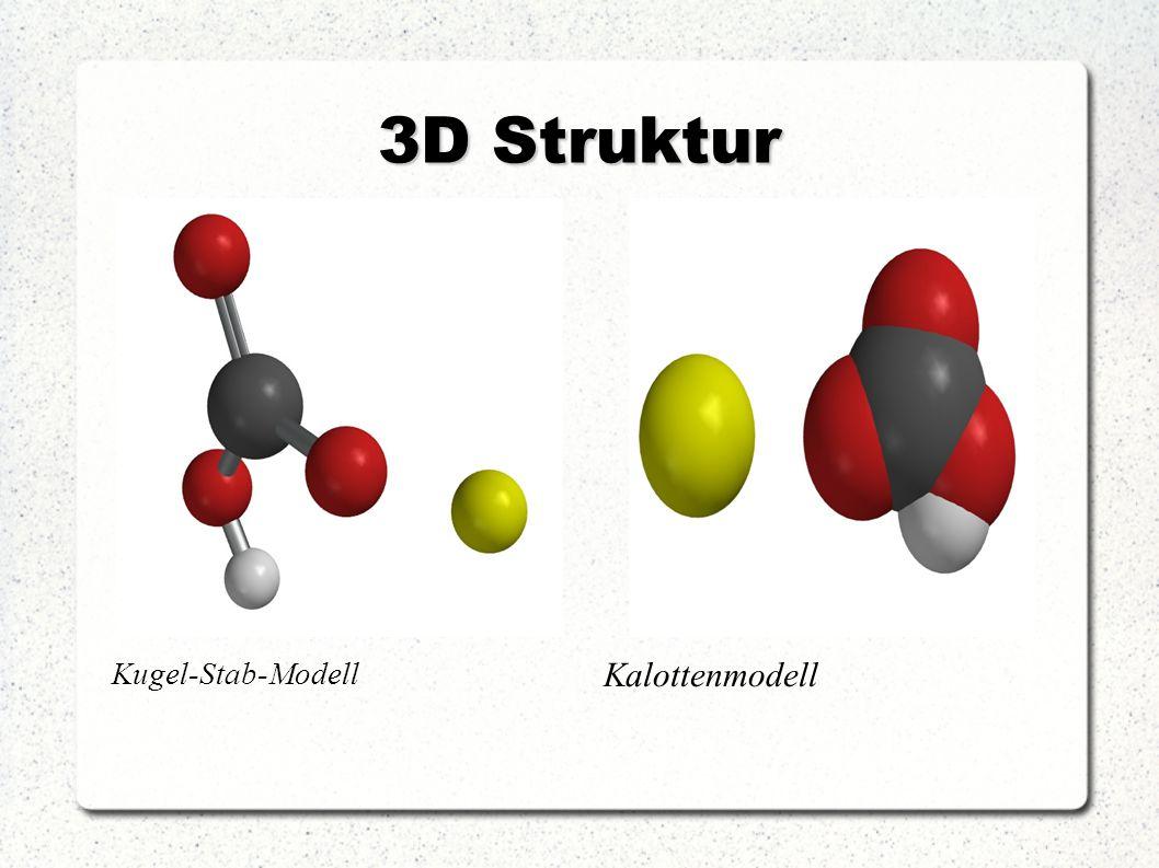 3D Struktur Kugel-Stab-Modell Kalottenmodell