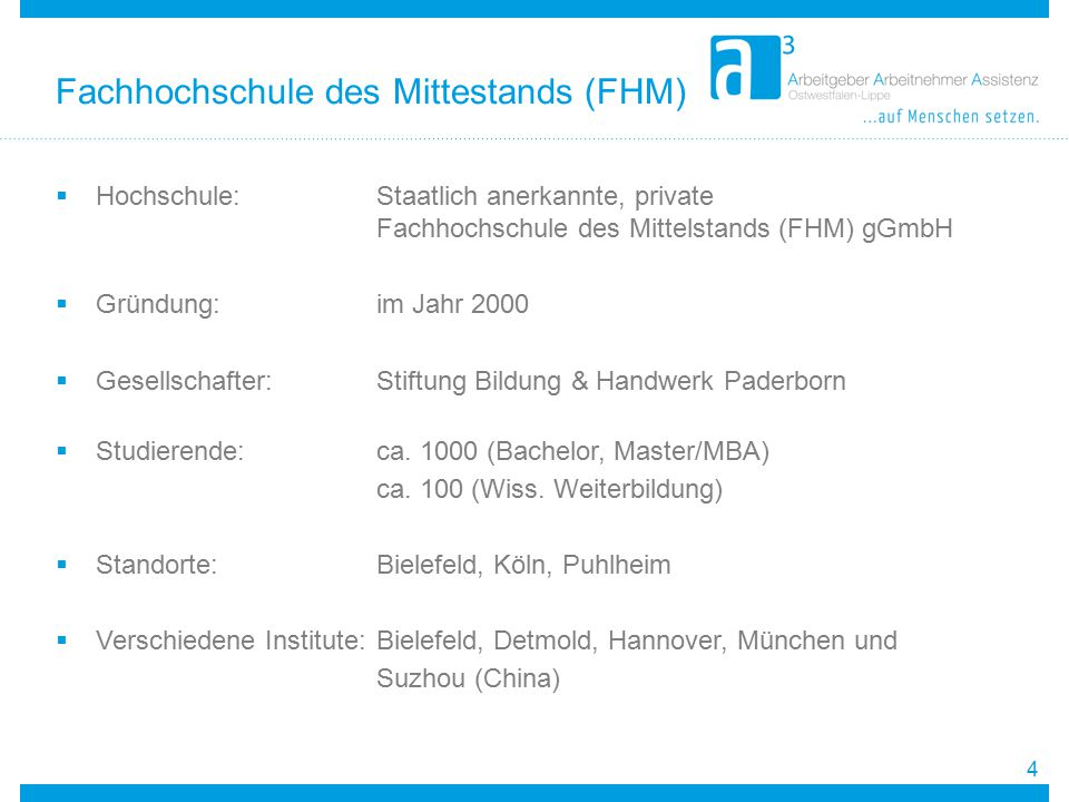 Fachhochschule des Mittestands (FHM)