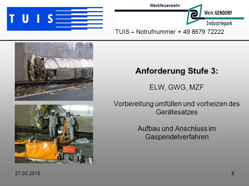 Werkfeuerwehr TUIS – Notrufnummer + 49 8679 72222.