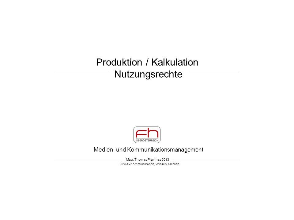 Produktion / Kalkulation