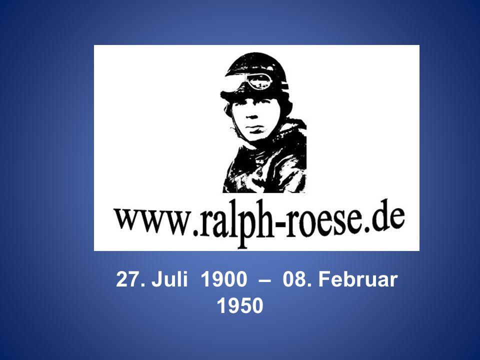 27. Juli 1900 – 08. Februar 1950