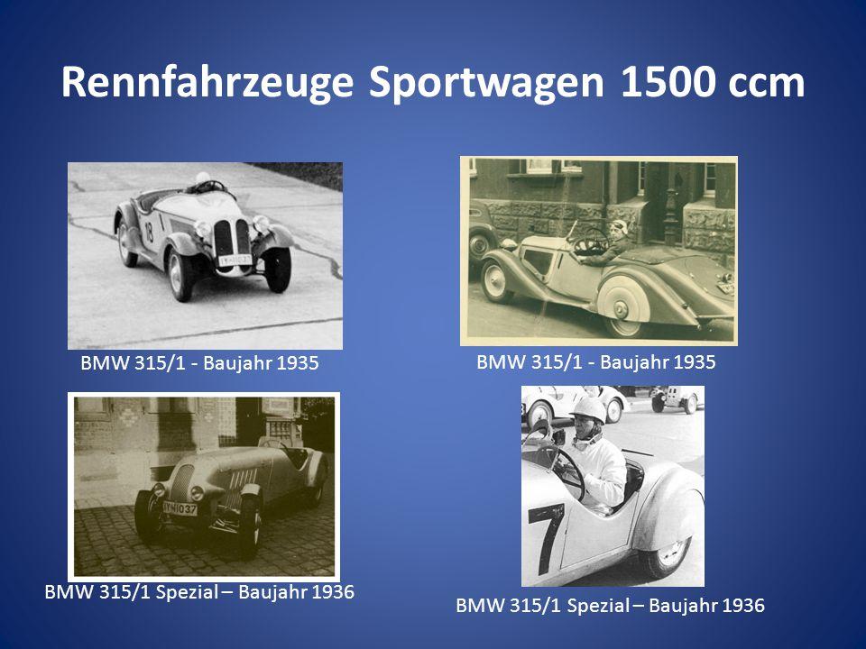 Rennfahrzeuge Sportwagen 1500 ccm