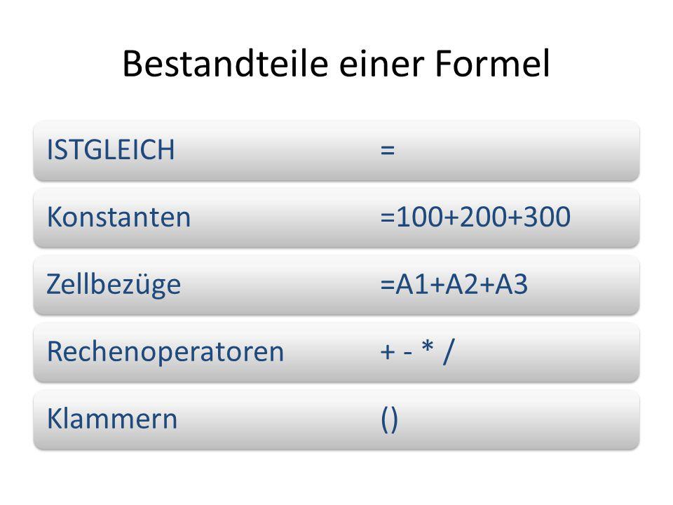 Bestandteile einer Formel