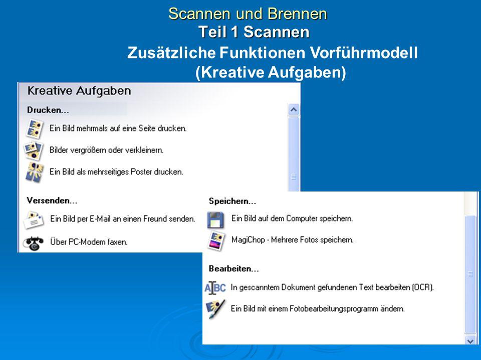 Zusätzliche Funktionen Vorführmodell (Kreative Aufgaben)