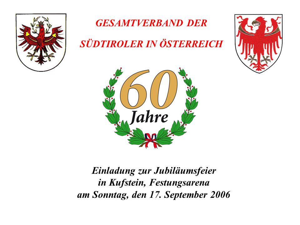 Einladung zur Jubiläumsfeier in Kufstein, Festungsarena