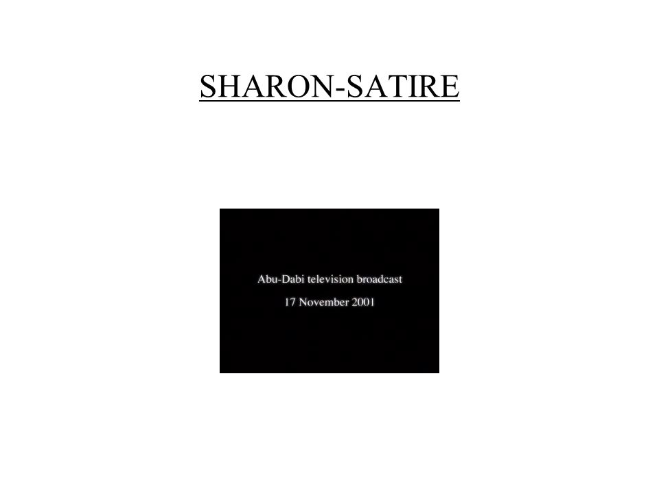 SHARON-SATIRE
