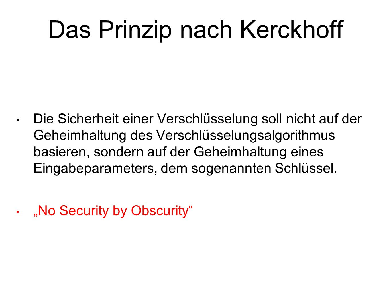 Das Prinzip nach Kerckhoff