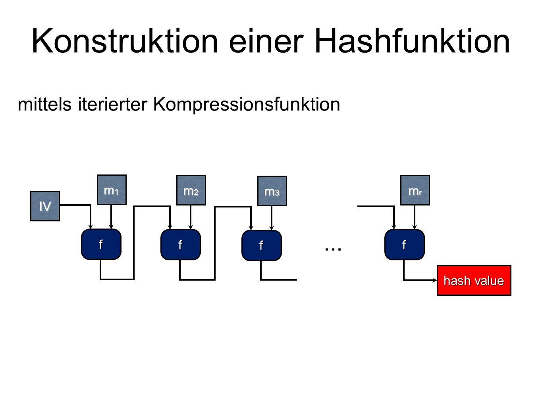 Konstruktion einer Hashfunktion
