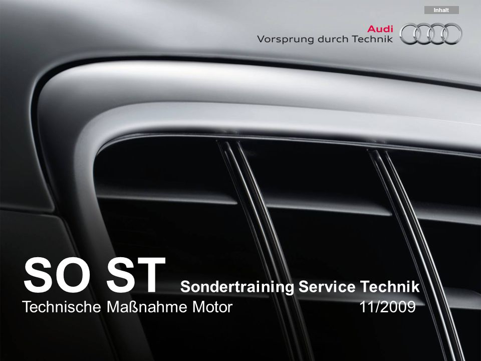 SO ST Sondertraining Service Technik
