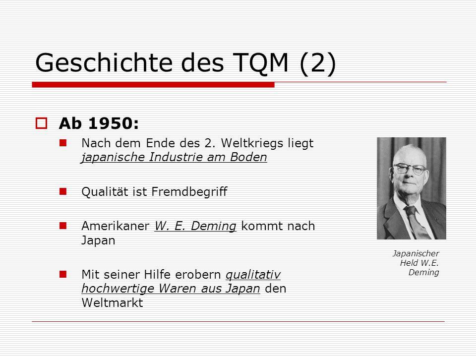 Geschichte des TQM (2) Ab 1950: