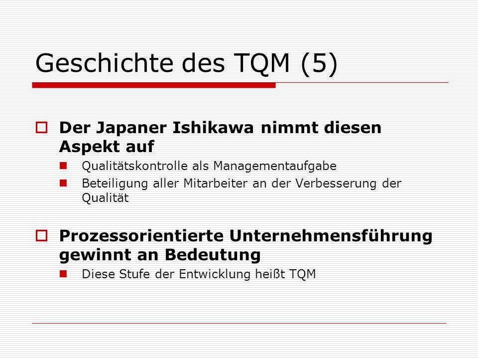 Geschichte des TQM (5) Der Japaner Ishikawa nimmt diesen Aspekt auf