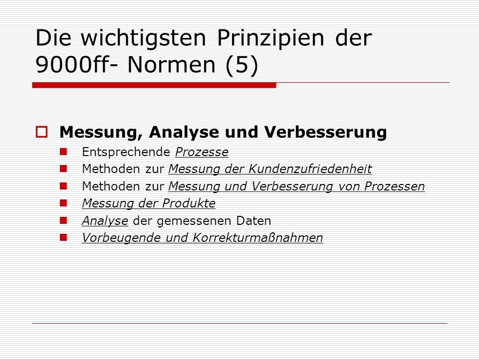 Die wichtigsten Prinzipien der 9000ff- Normen (5)