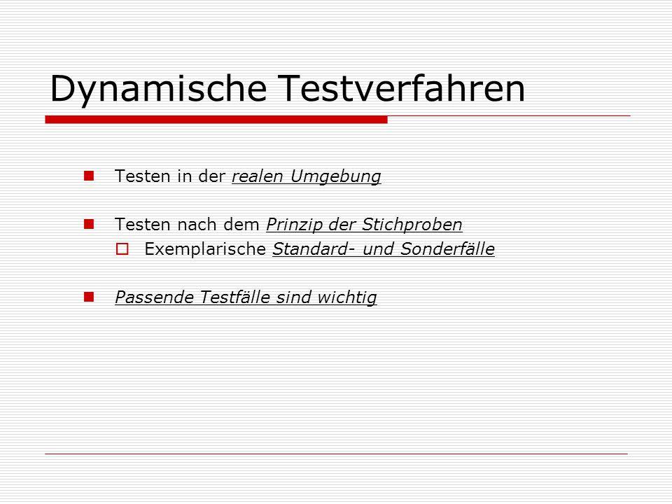 Dynamische Testverfahren