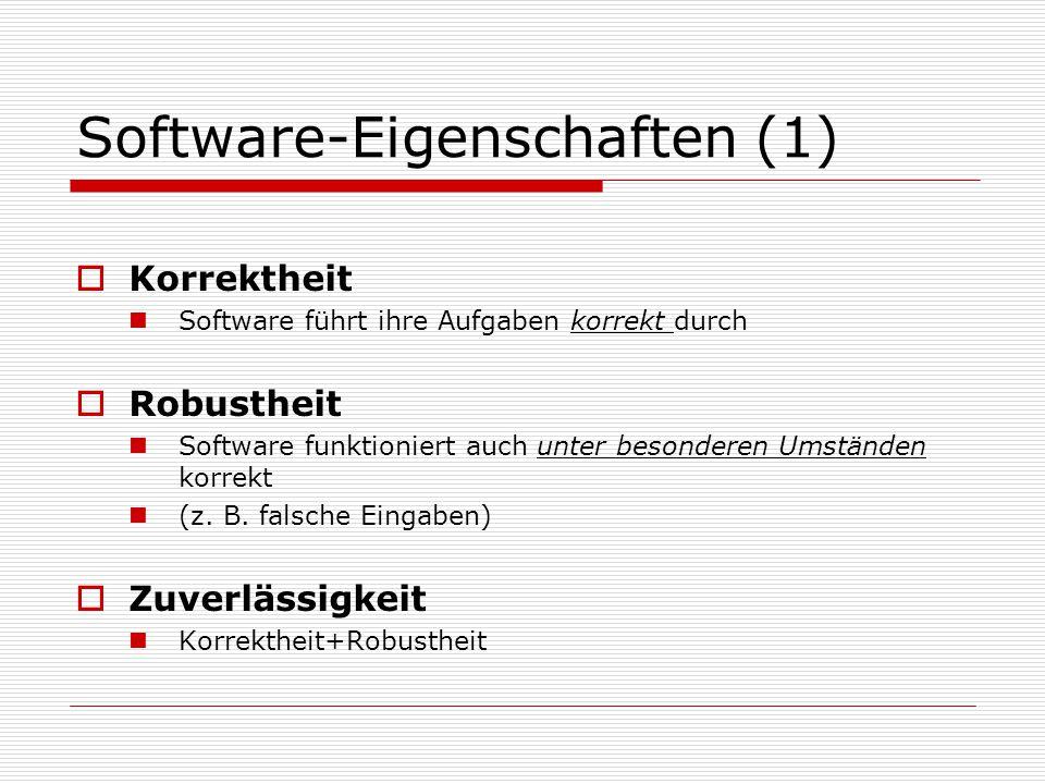 Software-Eigenschaften (1)