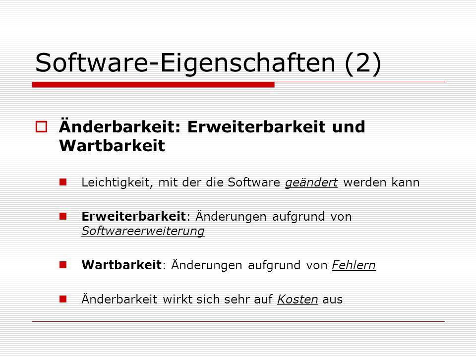 Software-Eigenschaften (2)