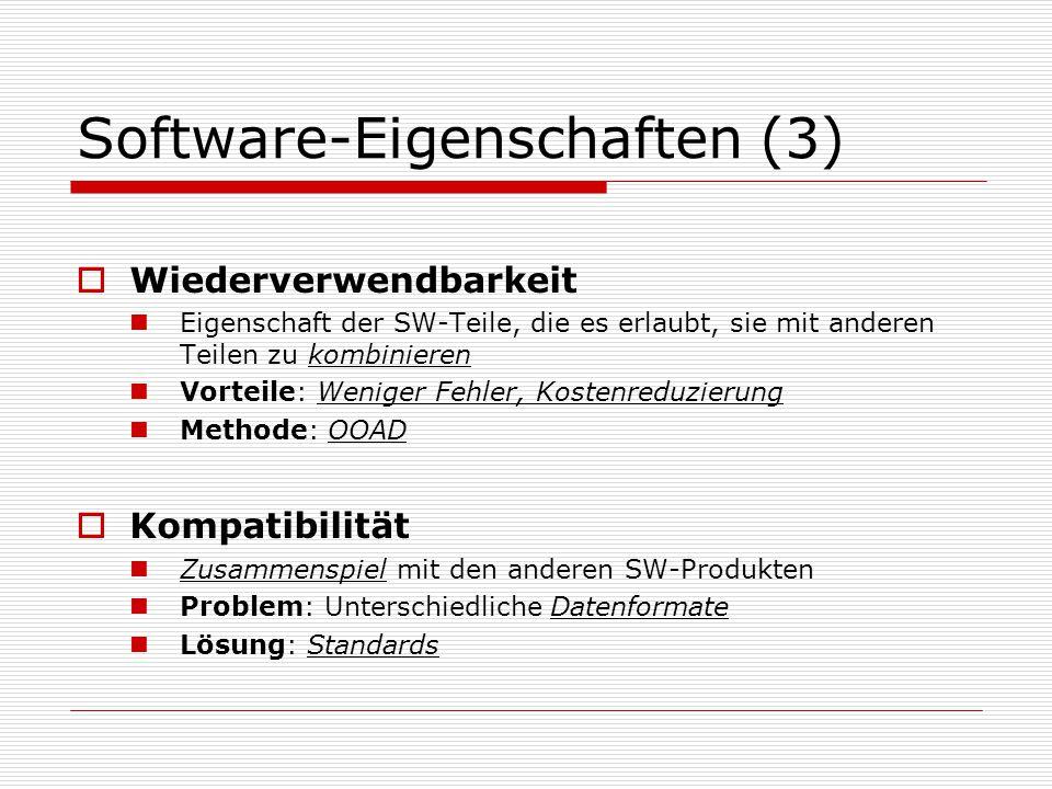 Software-Eigenschaften (3)