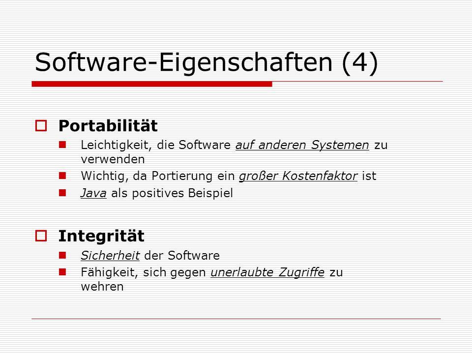 Software-Eigenschaften (4)