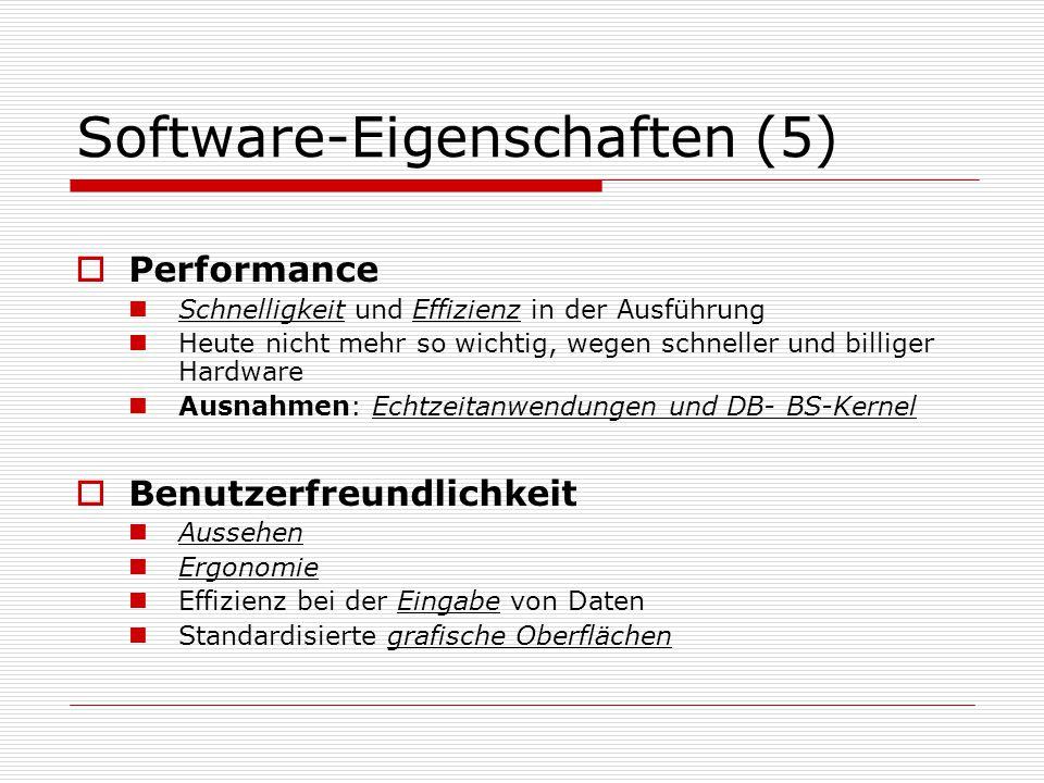 Software-Eigenschaften (5)