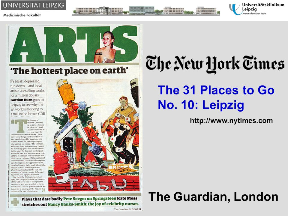 The 31 Places to Go No. 10: Leipzig The Guardian, London