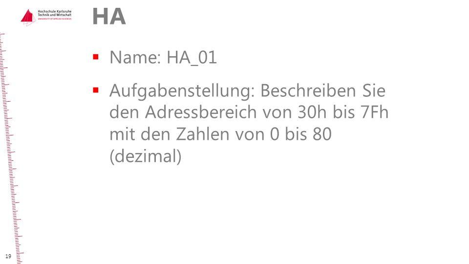 HA Name: HA_01.
