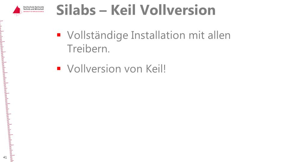 Silabs – Keil Vollversion