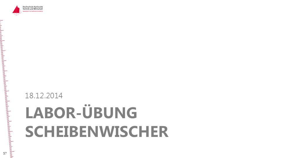 Labor-Übung Scheibenwischer