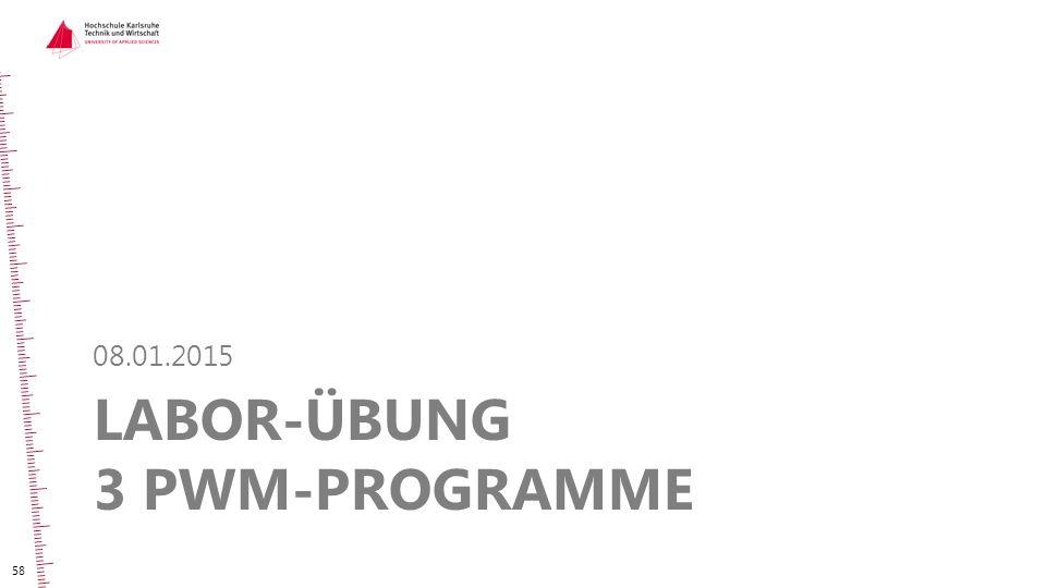 Labor-Übung 3 PWM-Programme