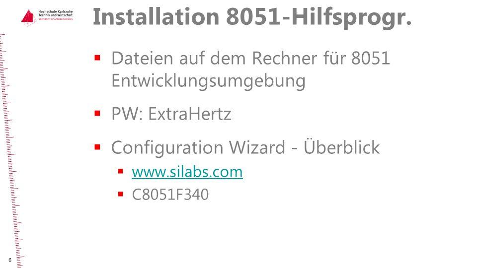 Installation 8051-Hilfsprogr.