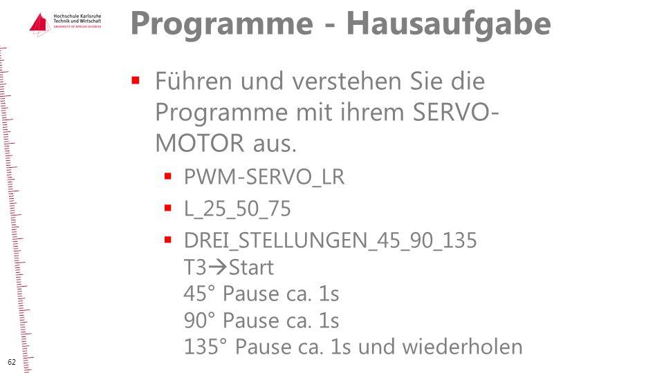 Programme - Hausaufgabe