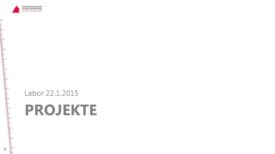 Labor 22.1.2015 Projekte