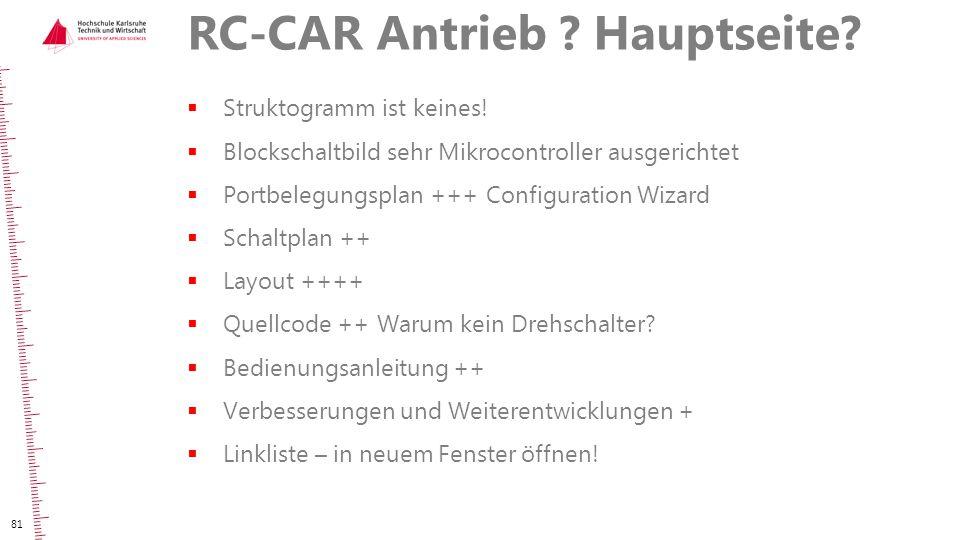 RC-CAR Antrieb Hauptseite