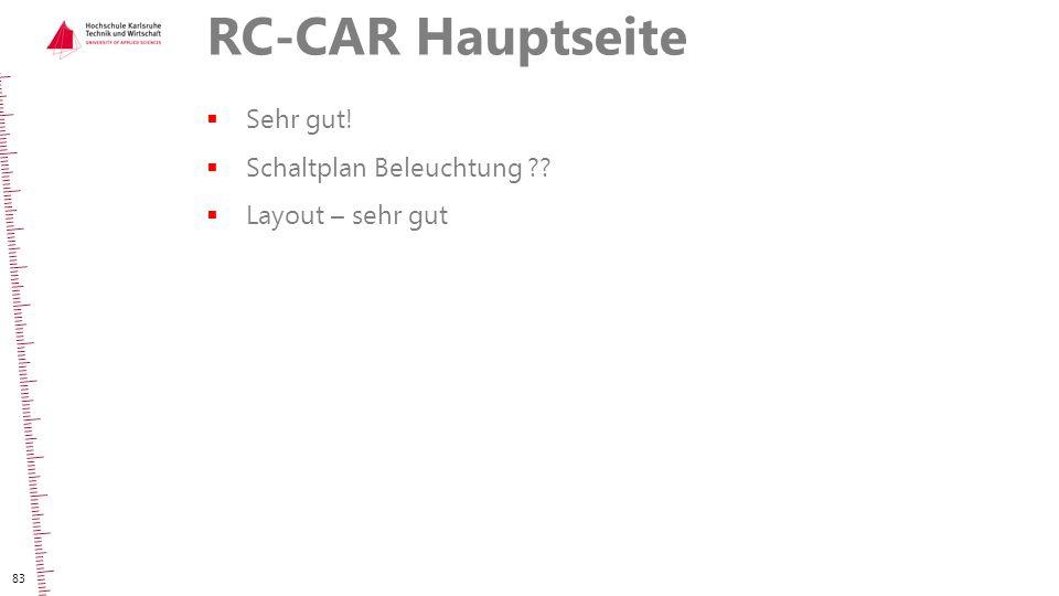RC-CAR Hauptseite Sehr gut! Schaltplan Beleuchtung