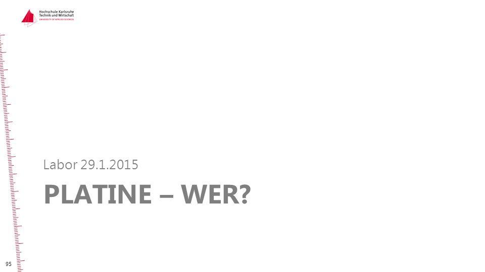 Labor 29.1.2015 Platine – WER