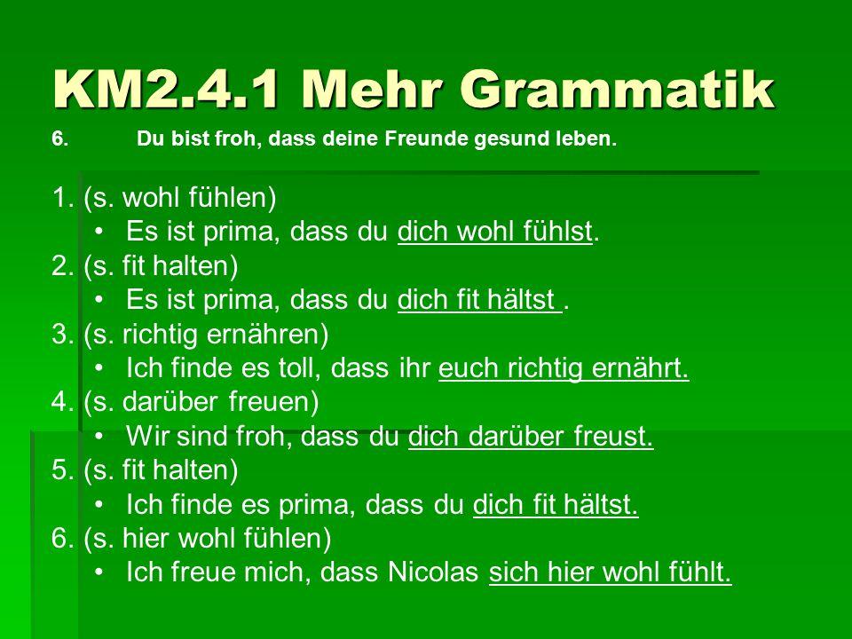 KM2.4.1 Mehr Grammatik (s. wohl fühlen)