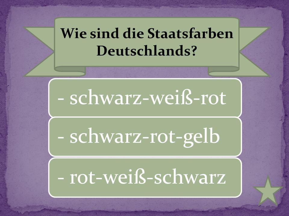 Wie sind die Staatsfarben Deutschlands