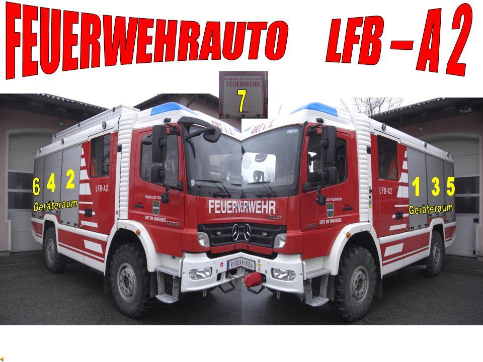 FEUERWEHRAUTO LFB – A 2 7 2 4 6 1 3 5 Geräteraum Geräteraum