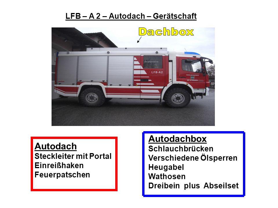 LFB – A 2 – Autodach – Gerätschaft