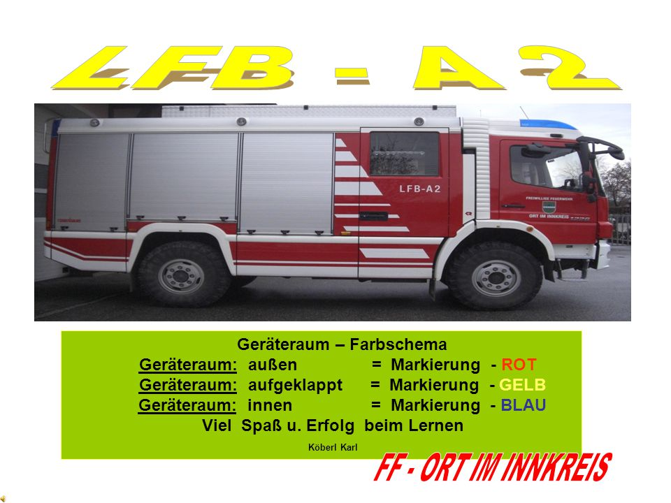 LFB - A 2 FF - ORT IM INNKREIS Geräteraum – Farbschema