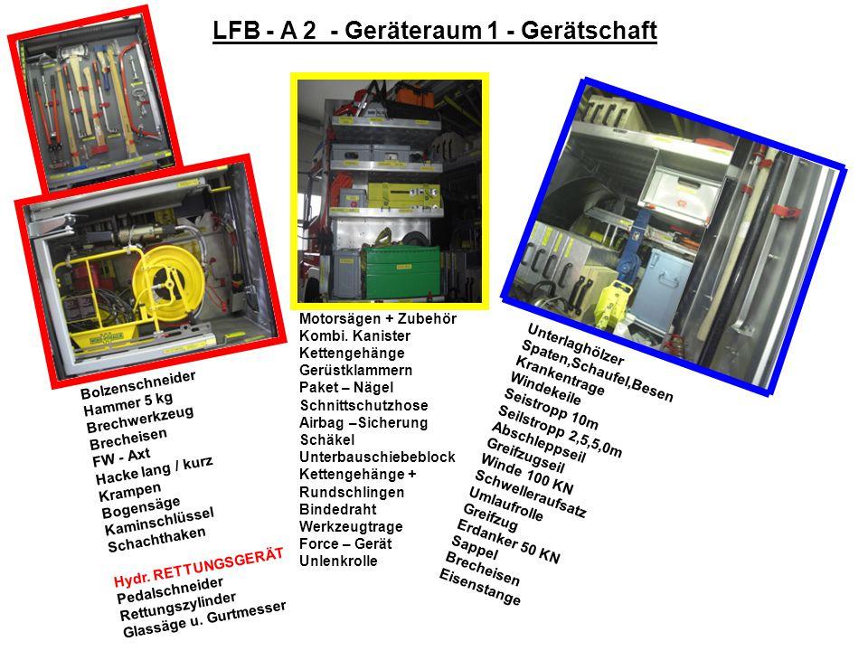 LFB - A 2 - Geräteraum 1 - Gerätschaft