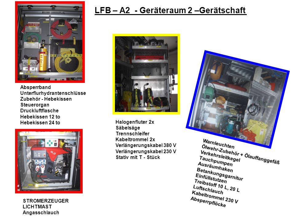 LFB – A2 - Geräteraum 2 –Gerätschaft
