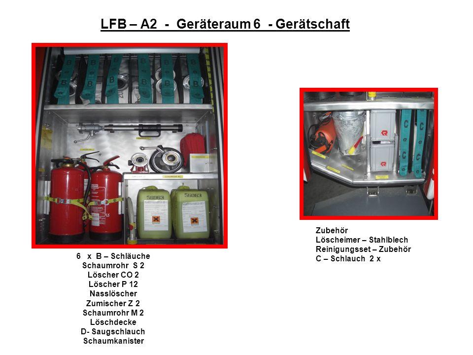LFB – A2 - Geräteraum 6 - Gerätschaft