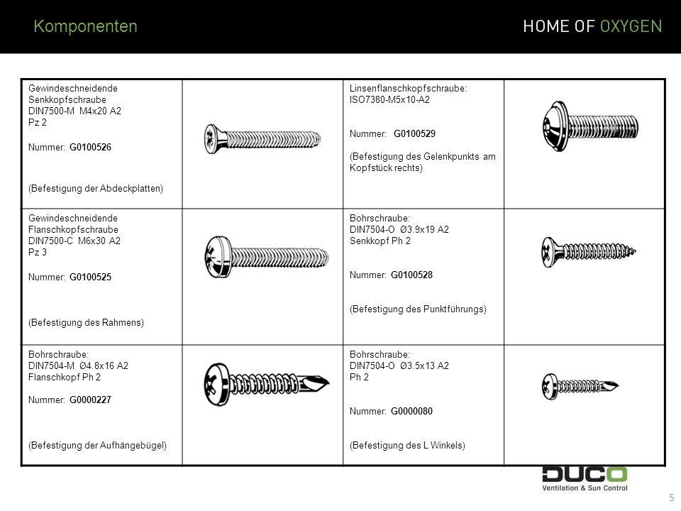 Komponenten Gewindeschneidende Senkkopfschraube DIN7500-M M4x20 A2