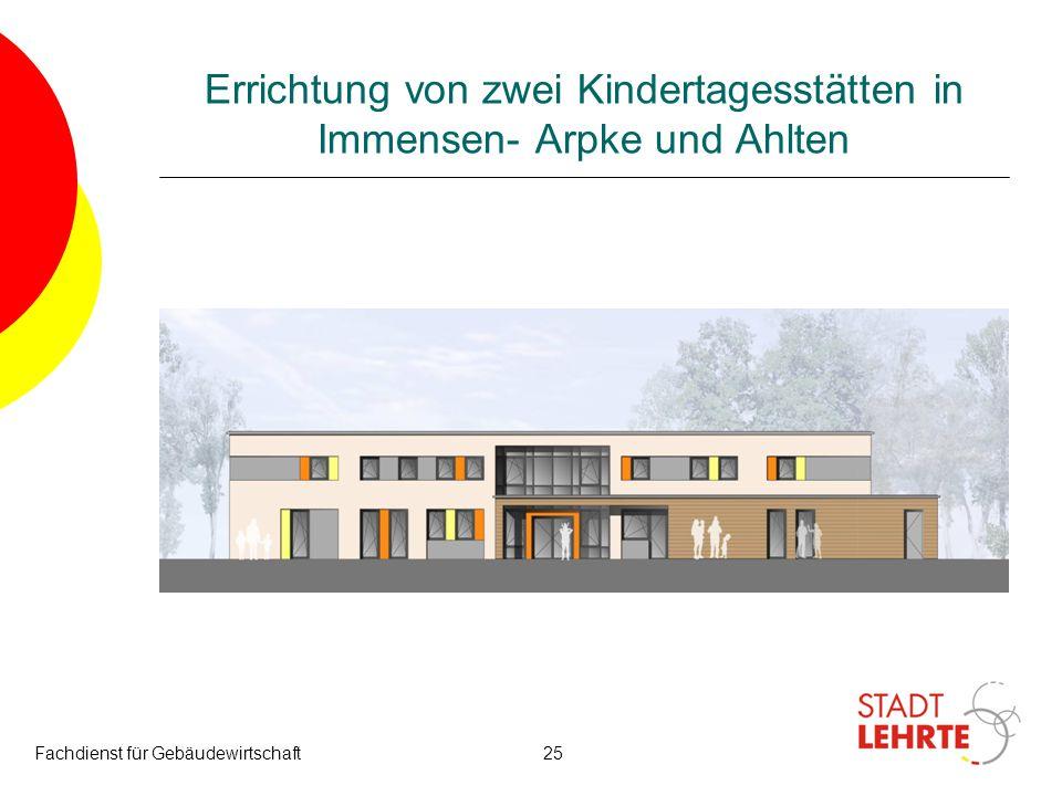 Errichtung von zwei Kindertagesstätten in Immensen- Arpke und Ahlten