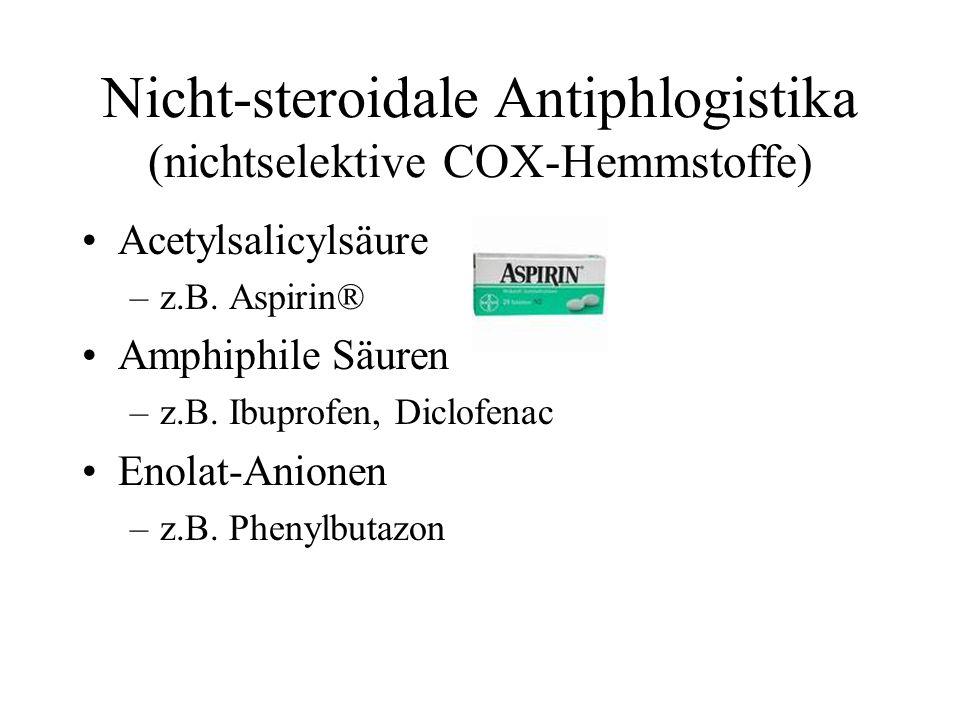 Nicht-steroidale Antiphlogistika (nichtselektive COX-Hemmstoffe)