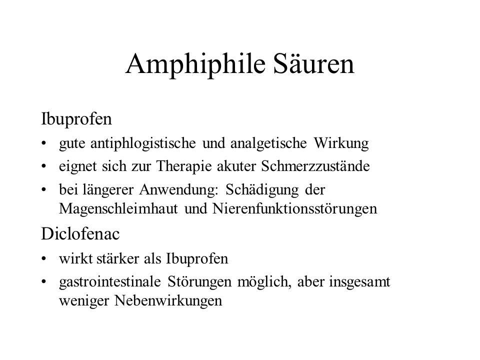 Amphiphile Säuren Ibuprofen Diclofenac