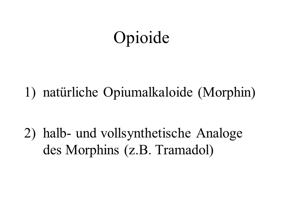 Opioide natürliche Opiumalkaloide (Morphin)