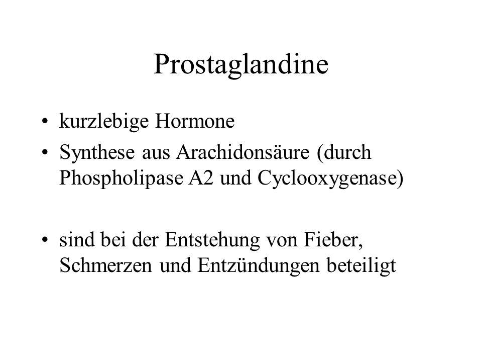 Prostaglandine kurzlebige Hormone