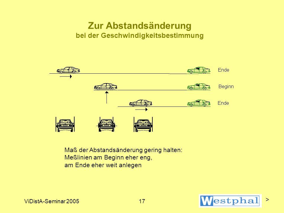 Verkehrsfehlergrenzen am Beispiel ProViDa2000